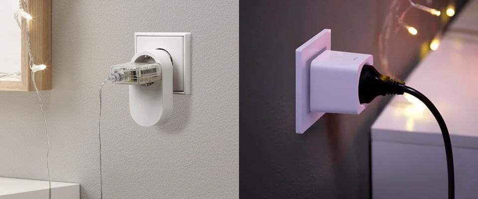 Ikea Trådfri och Philips Hue vägguttag