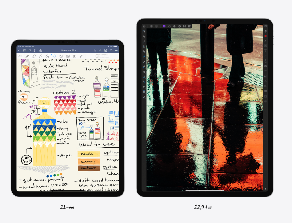 Storlek iPad